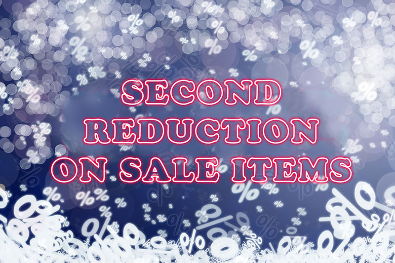 new price reduction on sale items