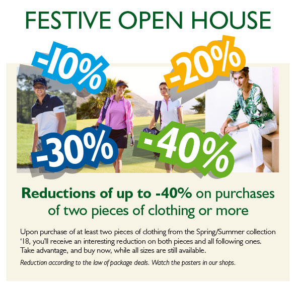 reductions on clothing